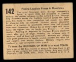 1938 Gum Inc. Horrors of War #142  Fleeing Loyalists Freeze in Mountains  Back Thumbnail