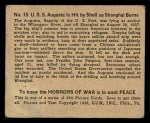 1938 Gum Inc. Horrors of War #15   U.S.S. Augusta is Hit by Shell as Shanghai Burns Back Thumbnail