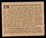 1938 Gum Inc. Horrors of War #270  Jap Machine-Gunners Pursue Swimming Airman  Back Thumbnail