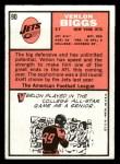 1966 Topps #90  Verlon Biggs  Back Thumbnail