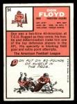 1966 Topps #54   Don Floyd Back Thumbnail