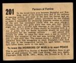 1938 Gum Inc. Horrors of War #201  Farmers of Famine  Back Thumbnail