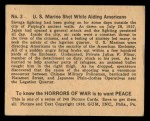 1938 Gum Inc. Horrors of War #3   U.S. Marine Shot While Aiding Americans Back Thumbnail