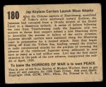 1938 Gum Inc. Horrors of War #180   Jap Airplane Carriers Launch Mass Attack Back Thumbnail