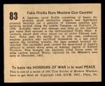 1938 Gum Inc. Horrors of War #83  Tokio Flotilla Runs Machine Gun Gauntlet  Back Thumbnail