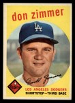 1959 Topps #287  Don Zimmer  Front Thumbnail