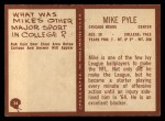 1967 Philadelphia #34  Mike Pyle  Back Thumbnail