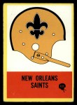 1967 Philadelphia #121   New Orleans Saints Logo Front Thumbnail