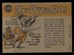 1960 Topps #570   -  Don Drysdale All-Star Back Thumbnail