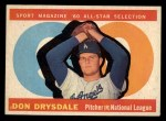 1960 Topps #570  All-Star  -  Don Drysdale Front Thumbnail
