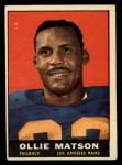1961 Topps #50  Ollie Matson  Front Thumbnail