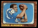 1966 Topps #119  Lance Alworth  Front Thumbnail