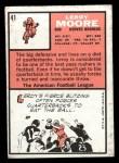 1966 Topps #41   Leroy Moore Back Thumbnail