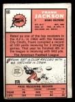 1966 Topps #80  Frank Jackson  Back Thumbnail