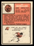 1966 Topps #19  Al Bemiller  Back Thumbnail