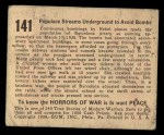 1938 Gum Inc. Horrors of War #141   Populace Streams Underground to Avoid Bombs Back Thumbnail