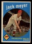 1959 Topps #269   Jack Meyer Front Thumbnail
