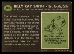 1969 Topps #185   Billy Ray Smith Back Thumbnail