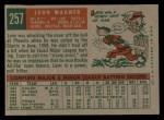 1959 Topps #257   Leon Wagner Back Thumbnail