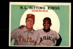 1959 Topps #317  NL Hitting Kings  -  Willie Mays / Richie Ashburn Front Thumbnail