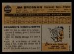 1960 Topps #449   Jim Brosnan Back Thumbnail