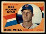 1960 Topps #147  Rookie Stars  -  Bob Will Front Thumbnail