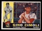 1960 Topps #58  Gino Cimoli  Front Thumbnail