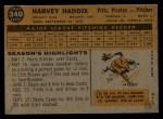 1960 Topps #340  Harvey Haddix  Back Thumbnail