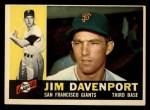 1960 Topps #154   Jim Davenport Front Thumbnail