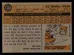 1960 Topps #135  Rookie Stars  -  Ken Johnson Back Thumbnail