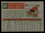 1959 Topps #303   Marty Keough Back Thumbnail