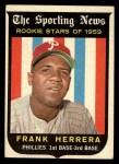 1959 Topps #129  Rookie Stars  -  Frank Herrera Front Thumbnail