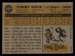 1960 Topps #509  Tommy Davis  Back Thumbnail