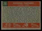 1959 Topps #291  Pitching Partners  -  Pedro Ramos / Camilo Pascual Back Thumbnail