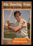 1962 Topps #468   -  Brooks Robinson All-Star Front Thumbnail