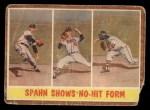 1962 Topps #312   -  Warren Spahn Spahn Shows No-Hit Form Front Thumbnail