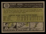 1961 Topps #354   Billy Harrell Back Thumbnail