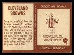 1967 Philadelphia #37  Cleveland Browns  Back Thumbnail