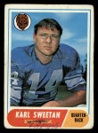 1968 Topps #217   Karl Sweetan Front Thumbnail