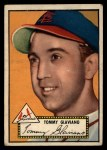 1952 Topps #56 BLK Tommy Glaviano  Front Thumbnail