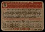 1952 Topps #23 RED Billy Goodman  Back Thumbnail