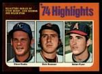 1975 Topps #7  No-Hitters Hurled  -  Steve Busby / Dick Bosman / Nolan Ryan Front Thumbnail