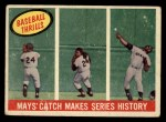 1959 Topps #464  Mays' Catch Makes Series History  -  Willie Mays Front Thumbnail