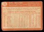 1964 Topps #365  Cal McLish  Back Thumbnail