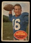 1960 Topps #74   Frank Gifford Front Thumbnail