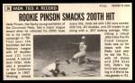 1964 Topps Giants #56   Vada Pinson  Back Thumbnail