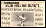 1964 Topps Giants #41   Bob Gibson Back Thumbnail