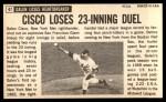 1964 Topps Giants #47   Galen Cisco Back Thumbnail