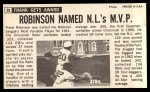 1964 Topps Giants #29  Frank Robinson   Back Thumbnail