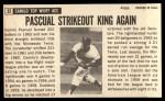 1964 Topps Giants #32   Camilo Pascual  Back Thumbnail